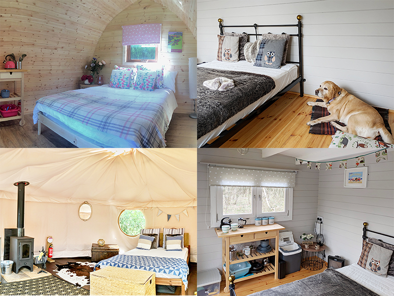 Glamping options interiors