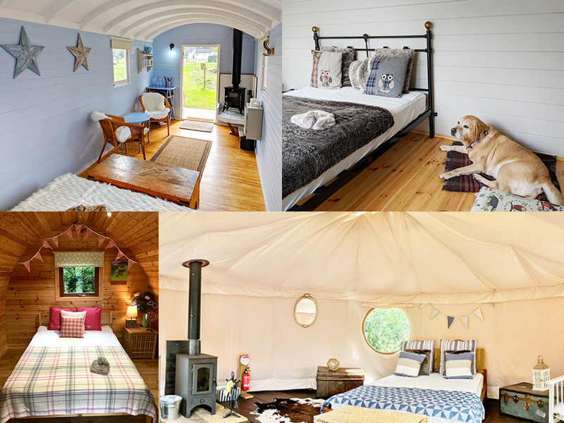 Cosy glamping accommodation