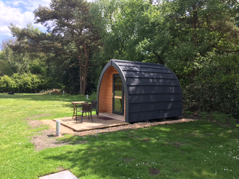 Medium sized pod (dog friendly)