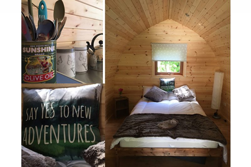 Inside Magpie Glamping Pod