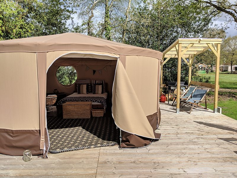 Spacious yurt