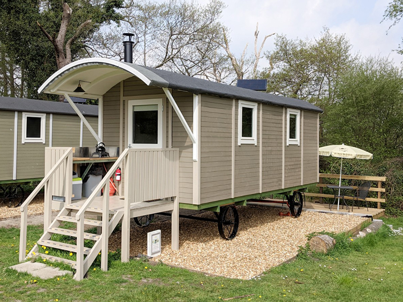 Two new shepherd huts (dog friendly)