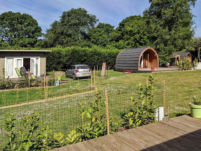 Back of Beyond Glamping Village Lodge and pods