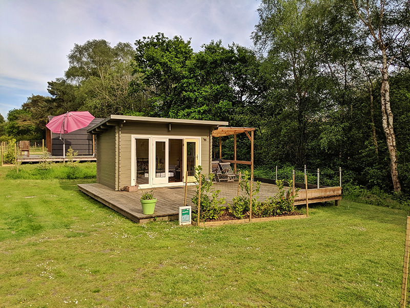 Two wooden lodges (dog friendly)